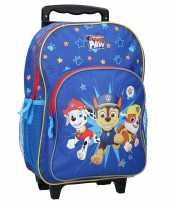 Goedkope paw patrol handbagage reiskoffer trolley 38 cm voor kinderen rugzak
