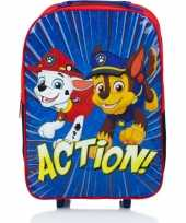 Goedkope paw patrol handbagage reiskoffer trolley 42 cm voor kinderen rugzak