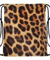 Goedkope sporttasje met cheetah print rugzak