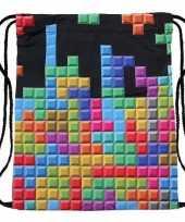 Goedkope sporttasje met tetris print rugzak