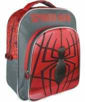 Goedkope zwart rode marvel spiderman rugzakken rugtassen 30 x 41 cm reistas voor jongens kinderen